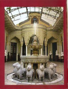 Réplica del Patio de Los Leones - Palacio La Alhambra, Santiago de Chile - Wikipedia, la enciclopedia libre- Cane.colores - Trabajo propio