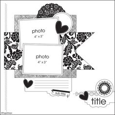 Scrapbook Layouts Gallery: Becky Fleck Sketch #5 by heidi