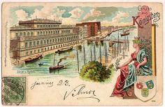 Germany, Königsberg lithograph postcard, 1901