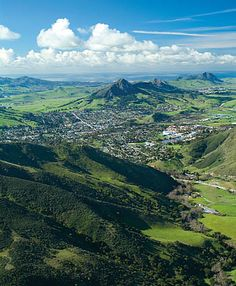 San Luis Obispo, California. Considered the happiest city in the United States.