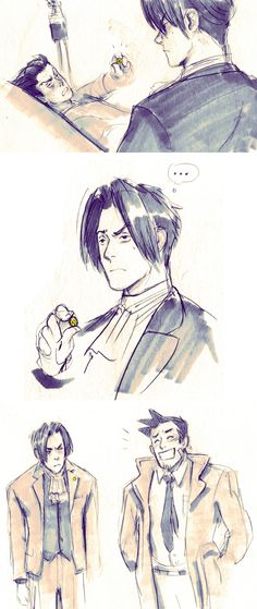 Edgeworth takes one for the team (Prosecutor Miles Edgeworth, Defense Attorney)