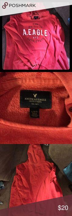 American Eagle Hoodie size Large American Eagle Red Hoodie size Large American Eagle Outfitters Tops Sweatshirts & Hoodies
