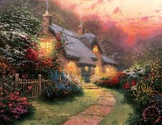 Glory of Evening Painting by Thomas Kinkade