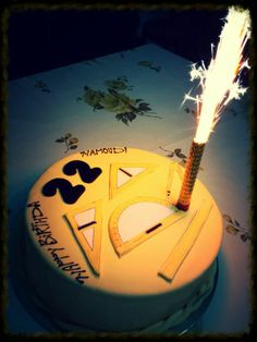 chocolate bday cake -- architecture student :)