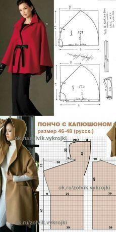 2019 New Fashion Autumn Winter Coat Women's Handsome Cape Coat Solid Color Woolen Poncho Ladies Loose Warm Outwear Cashmere Coat Coat Patterns, Dress Sewing Patterns, Clothing Patterns, Diy Clothing, Sewing Clothes, Fashion Sewing, Diy Fashion, Designs For Dresses, Jacket Pattern