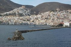 View of Hermoupolis Greek Islands, Landscape, Places, Water, Outdoor, Greek Isles, Gripe Water, Outdoors, Scenery
