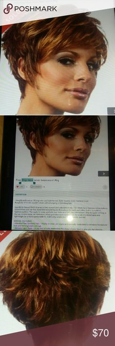 Raquel Welch New Wig Never worn 144.00 original price Short sassy wig. Human and synthetic mix. Will be shipped in original box. Cap that memorizes the shape of your head. Paperwork included. Had listed on another site. raquel Welch  Other
