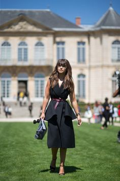 See all the chicest street style outfits spotted this week at Paris Couture Week: Miroslava Duma