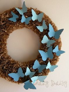 butterfly wreath! what colors would fit your decor?
