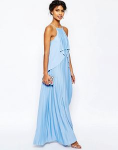 Image 4 ofASOS Ruffle Pleated Maxi Dress