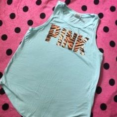 VS PINK Flawless lettering, brand new, size s/p, No Trades!!!!! Tank top Only * PINK Victoria's Secret Tops Tank Tops
