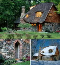 New York's Storybook Cottage - rental home / a nice collection of fairy tale cottages . how i would love a cottage! Storybook Homes, Storybook Cottage, Stone Cottages, Cabins And Cottages, Small Cottages, Cute Cottage, Cottage Style, Fairytale Cottage, Fairy Houses