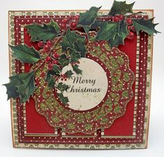 #KaiserCraft, #LoriWilliams, #Pinkcloudscrappers, Christmas Card created for KaiserCraft using Saint Nicholas paper Collection.