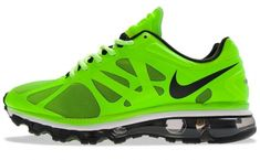 """Two of my favorite things... Nikes & Green!! Nike Air Max+ 2012 """"Electric Green"""""""
