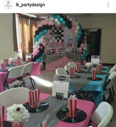 1950 Sock Hop Inspired Engagement Party