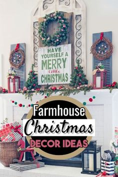 Farmhouse Christmas Decorating ideas for the Home. Decorate your home inside and outside in Farmhouse style for this Holiday season. Country farmhouse rustic charm makes the Holidays extra special! Farmhouse Christmas Decor, Farmhouse Style Decorating, Rustic Christmas, Christmas Home, Farmhouse Decor, Christmas Crafts, Country Farmhouse, Christmas Trees, Coastal Farmhouse