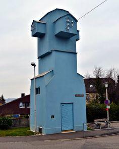 Transformatorenhaus von 1921, Oberer Zielweg 21, Architektur von Rudolf Steiner.