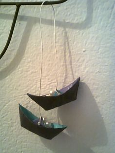 pair of paper boats