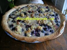 This is my favorite recipe for blueberry pie. I will be listing it under my favorites on the blog. This pie does not last much over a day at my house. 3/4 cup sour cream3 tablespoons all-purpose ...
