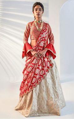 Beautiful Silk Lehenga-Choli with superb embellishments with hand embroidery. Designer Bridal Lehenga, Bridal Lehenga Choli, Indian Lehenga, Silk Lehenga, Sari, Wedding Chaniya Choli, Sabyasachi Sarees, Ghagra Choli, Lehenga Blouse