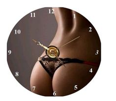 Sensual Back CD Clock  Can Personalize Send Pic Great Gift