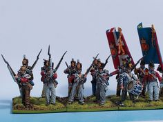 4th Foot Line left flank painted from Tobias Kirchner (Perry Miniatures)