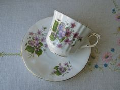Royal Windsor bone china tea cup and saucer by VolvoxVintageShop. SOLD!