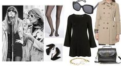 Françoise Hardy - To nail Francoise's look yourself, keep it simple. Lots of turtlenecks, mini dresses and skirts, oversized sunglasses, breton tops and knits.