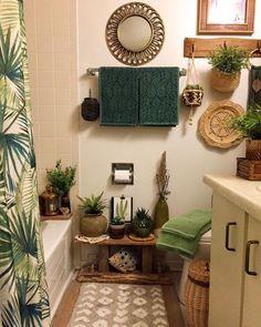 Home Decor Inspiration, Bathroom Inspiration, Creation Deco, Boho Bathroom, Home And Deco, Dream Rooms, Amazing Bathrooms, Home Decor Bedroom, Apartment Living