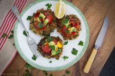 These delicious quinoa patties make a fabulous vegetarian meal or side dish. With gluten and dairy free options they suit all dietary requirements.