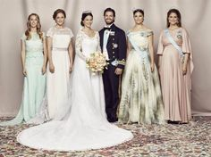 Wedding of Prince Carl Philip of Sweden and Sofia Hellqvist, June Bride and Groom with their siblings Lina and Sara Hellqvist, Crown Princess Victoria and Princess Madeleine Princess Sofia Of Sweden, Princess Victoria Of Sweden, Royal Princess, Crown Princess Victoria, Prince And Princess, Princess Sophia, Royal Wedding Gowns, Royal Weddings, Wedding Dresses