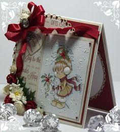 Downrightcrafty: A Berry Merry Xmas To You Christmas Cards To Make, Xmas Cards, Christmas Greetings, All Things Christmas, Kids Christmas, Handmade Christmas, Holiday Cards, House Cards, Hobby House