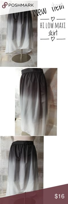 Grey hi lo maxi skirt size medium dip dye grey Grey hi lo maxi skirt size medium dip dye grey  NOT NEW. Pre owned condition *******All items are in pre owned condition, Nothing, unless noted , is brand new **** please ask questionsFor sale in my posh closet  www.poshmark.com/closet/poshmarkmentors  #poshmarkseller #collections #followforfollow #fashionphotography #bloggers #ladiesoffashion #fashionfinds #shopping #buyitnow #selling #poshmark #kindofabigdeal #luxury #fashionphotographer…