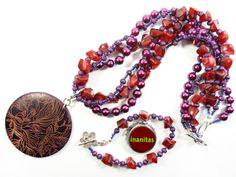 SCHMUCKSET - Opulent, Lila & Beere von INANITAS auf DaWanda.com