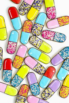 Pill Capsule Cookies | Oh Happy Day!