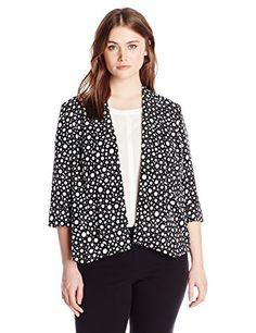 Kasper Women's Plus-Size Dot Cardigan Jacket, Vanilla/Bla... http://www.amazon.com/dp/B019NP0W8W/ref=cm_sw_r_pi_dp_VL9lxb0A60RD0