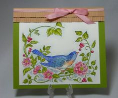 MMTPT143, Bluebird and a Thatched Roof- Avian Toile set