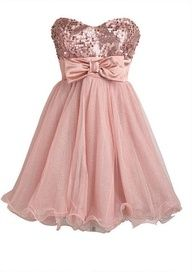 Damas dresses!! These are absolutely adorable!!! I love the pink sparkle and the bow. Everything about this dress is stunning. Have your ladies accessorize in gold and you're all set!