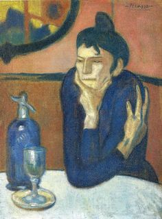 The Absinthe Drinker by Pablo Picasso Size: 73x54 cm Medium: oil on canvas