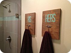 I love this idea for the bathroom!