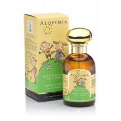 ALQVIMIA- Agua de colonia para Niños y Bebés 100 ml.  Agua de colonia para niños y bebés. Principios activos: aceites esenciales ecológicos 100% origen natural. Alegría, bienestar y relax.