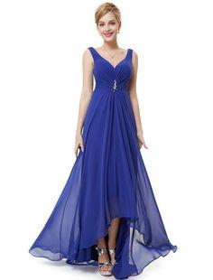 Chiffon High Low Bridesmaid Dress at bling brides bouquet online bridal store
