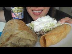 ASMR: Carnitas Burrito, Asada Sope, Chicken Taquitos   Mexican Food   Ea...