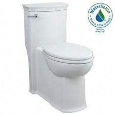 Master Bathroom, Chapeau Elongated High Efficiency 1-Piece Toilet shown in White (001)