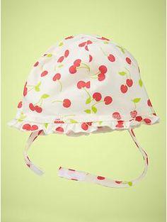 Printed ruffle hat