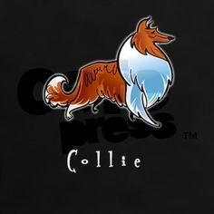 Collie Illustration Tee on CafePress.com