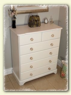 Shabby Chic Chest Of Drawers www.chicmouldings.com