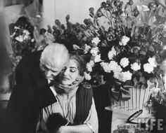 Мария Каллас и её муж Джованни Батиста Менегини. Фото / Maria Callas & Giovanni Meneghini photo
