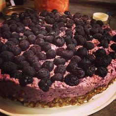 Dessert anyone? Raw blueberry cheesecake! #rawfood #blueberries #dessert #cheesecake #dairyfree