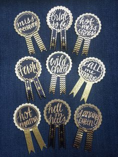 Custom Bachelorette Party Pin by WildandFreebird on Etsy